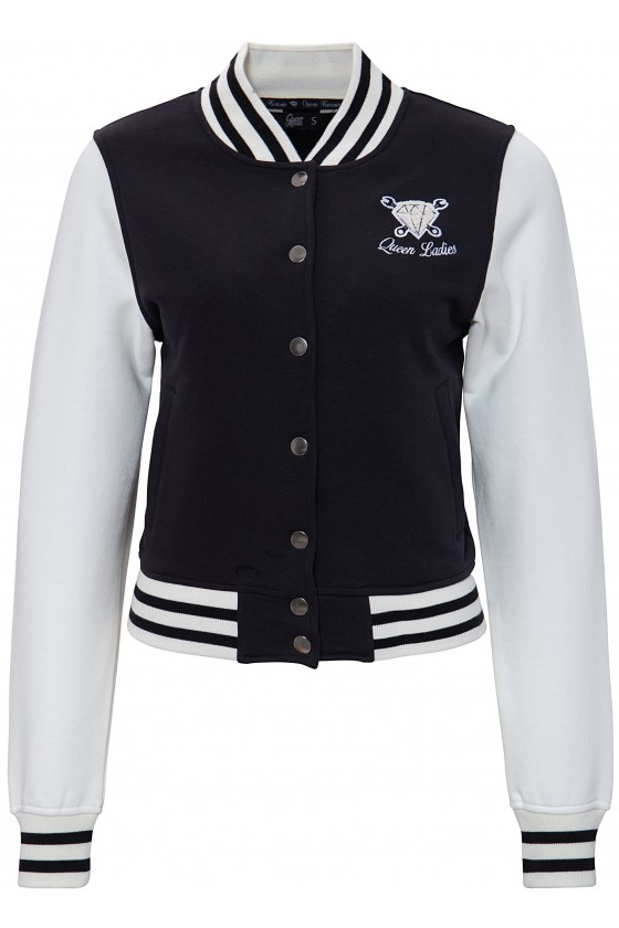 Women's College Jacket with Embroidery (black)