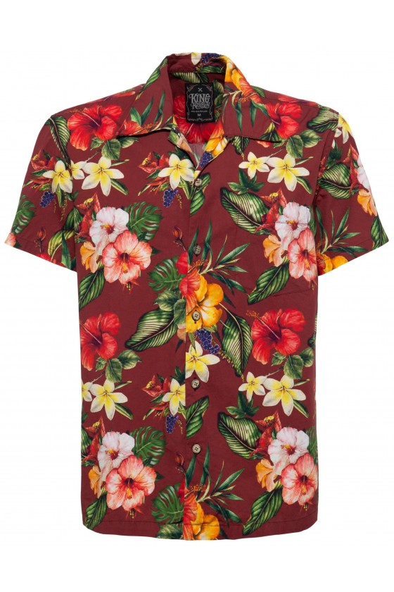 HAWAII SHIRT TROPIC (bordeaux)