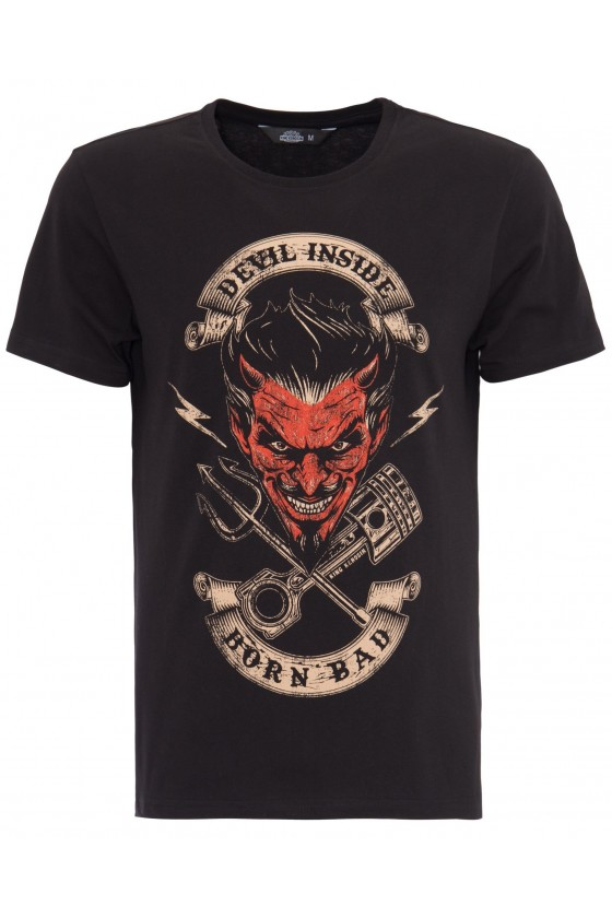 Men T-Shirt Devil Inside (black)