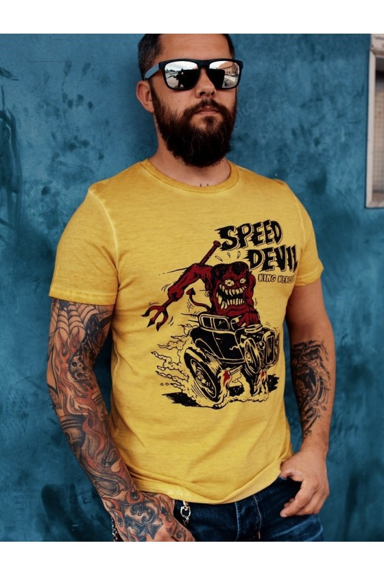 Men T-Shirt Speed Devil (mustard)