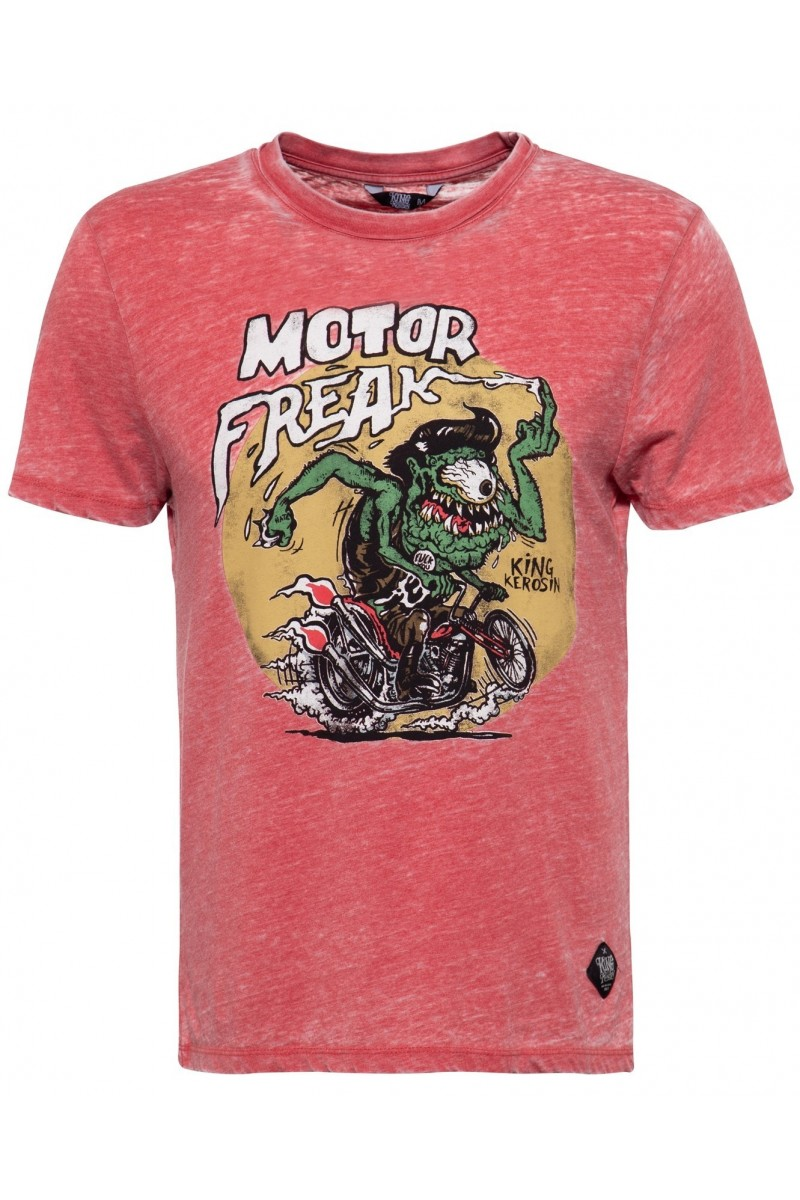 MEN'S T-SHIRT MOTOR FREAK (red)