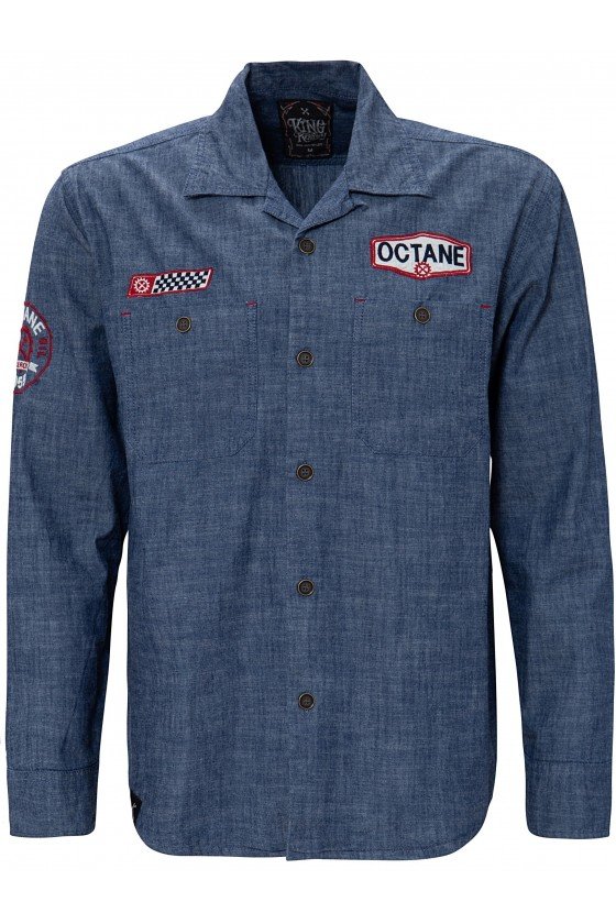 Shirt with Embroidery Octane (blue)