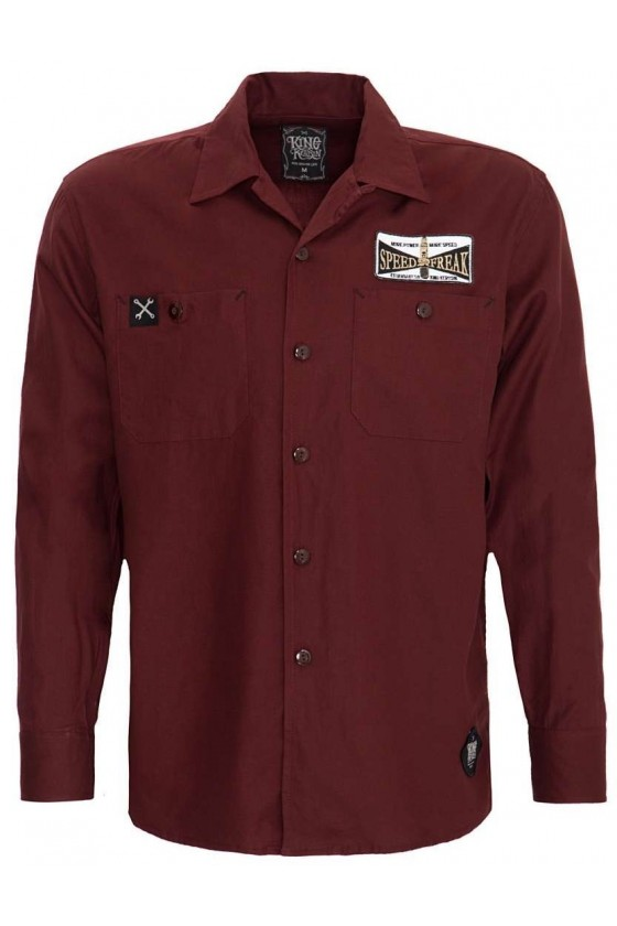 Men Shirt Workwear (burgundy)