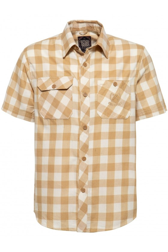 SHORT SLEEVED SHIRT TRADEMARK (rust brown)