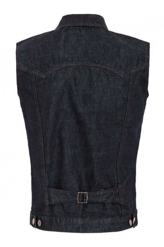 RINSED DENIM VEST (navy)