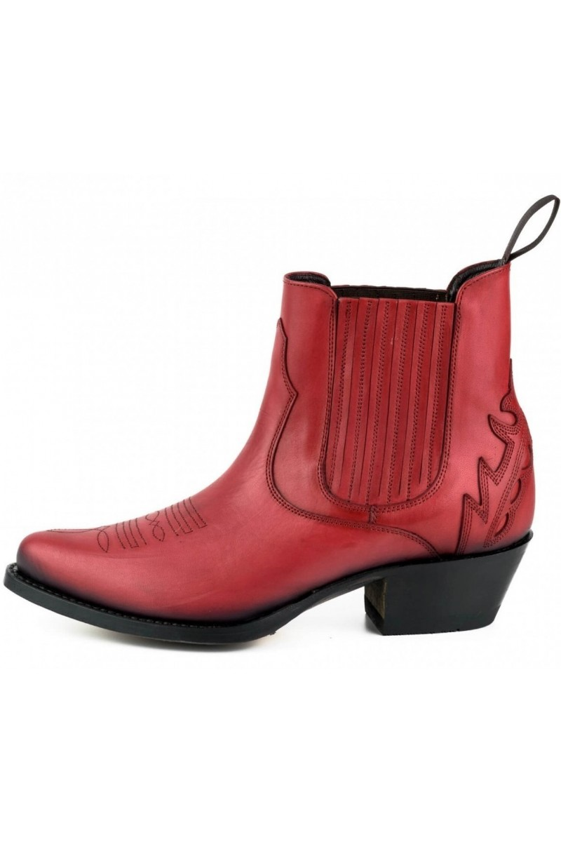 WOMEN'S ANKLE BOOTS MARILYN (red)