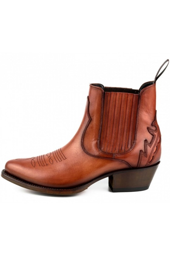 WOMEN'S ANKLE BOOTS MARILYN (cognac)