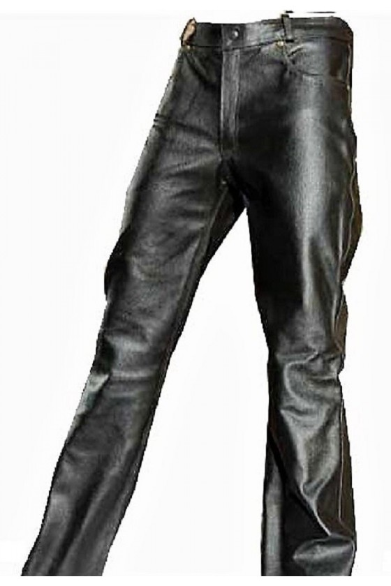 LEATHER JEANS (black)