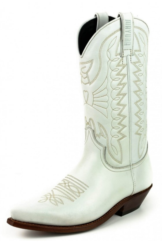 LEATHER COWBOY BOOTS 1920 (white)