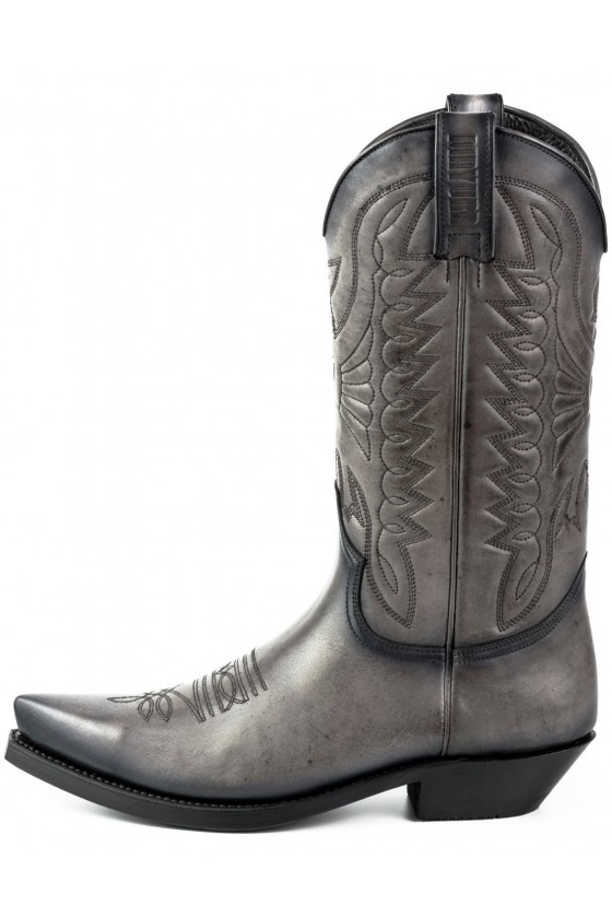 LEATHER COWBOY BOOTS 1920 (vintage grey)
