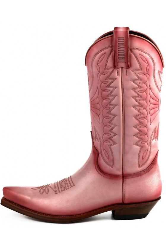Leather Cowboy Boots 1920 (pink)