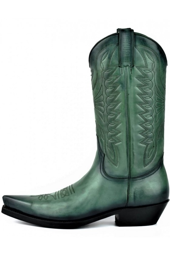 LEATHER COWBOY BOOTS 1920 (green)
