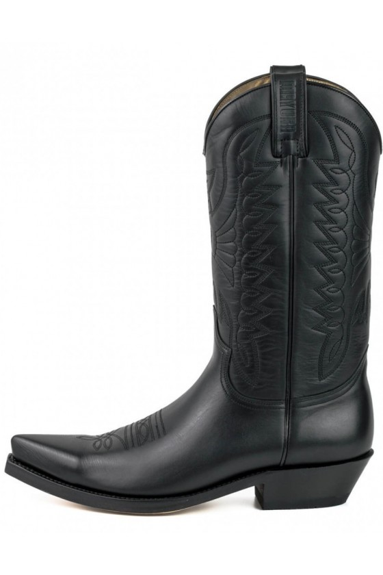 LEATHER COWBOY BOOTS 1920 (black)