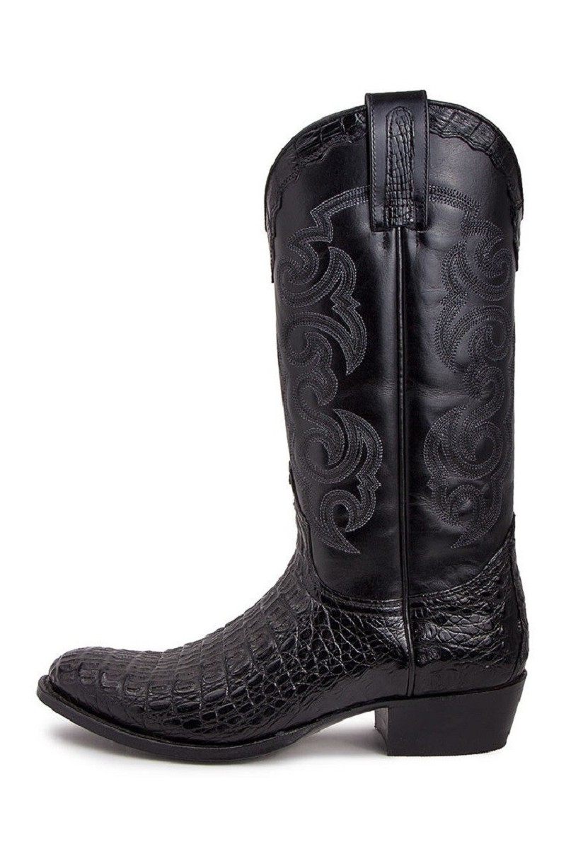 LEATHER BOOTS DOM (black)
