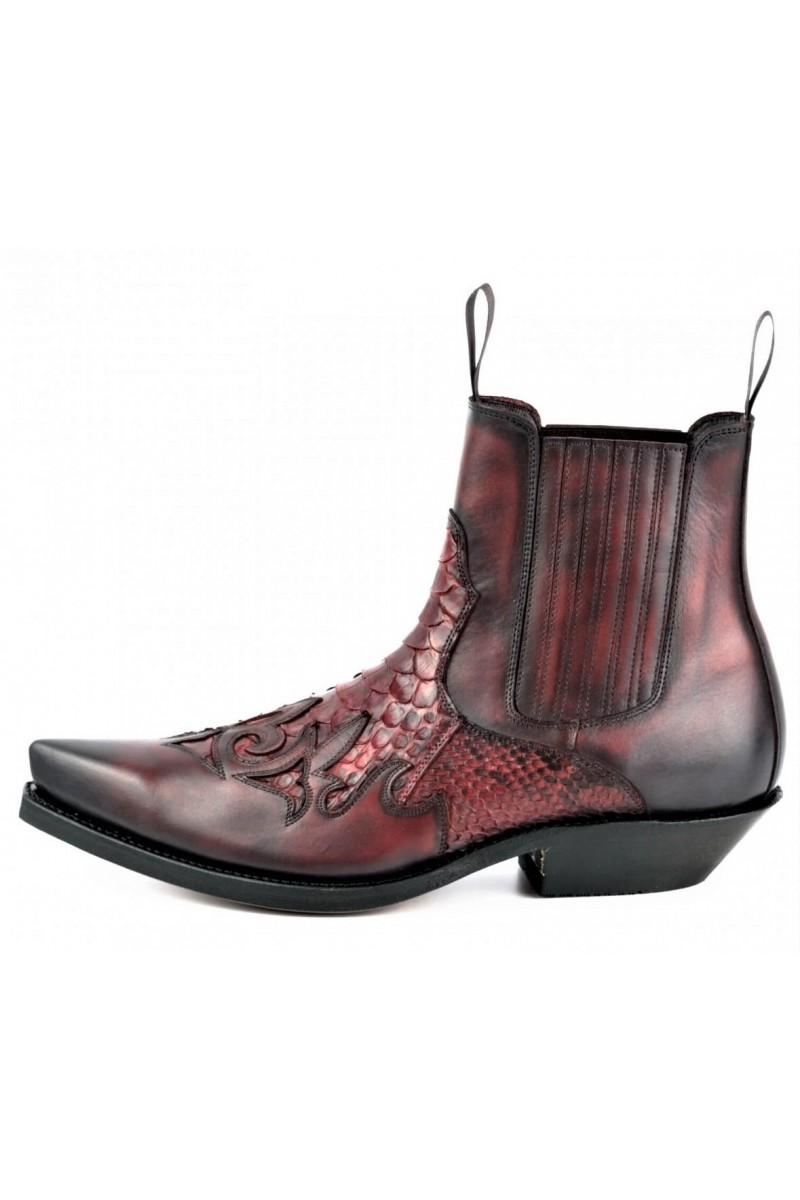 ANKLE BOOTS ROCK 2500 (red/black)