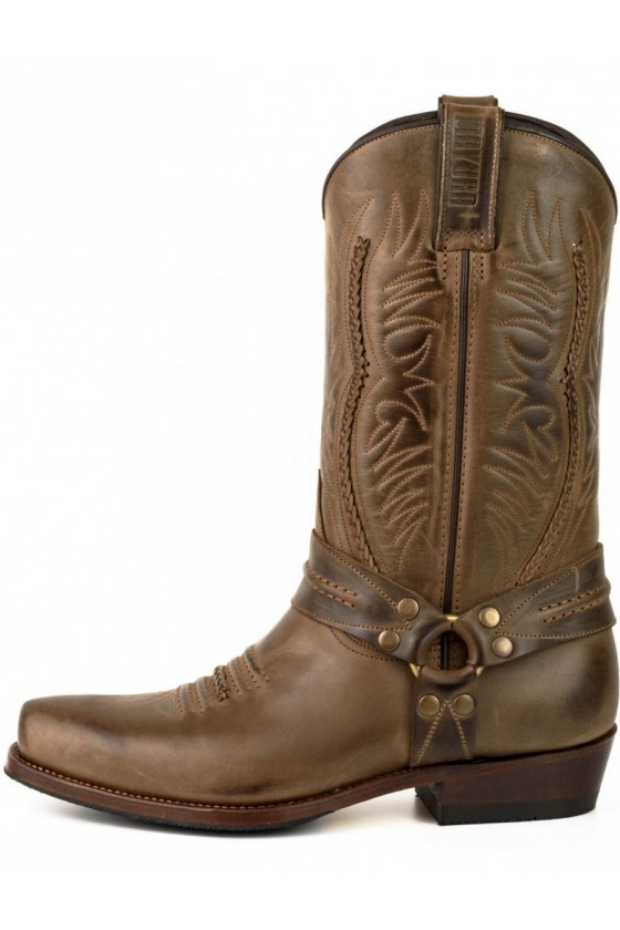 LEATHER BOOTS WESTERN (brown)