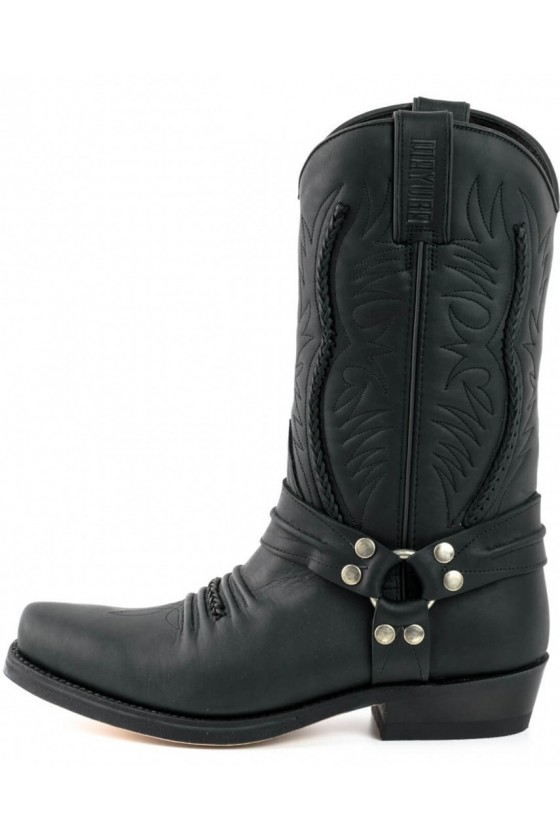 LEATHER BOOTS WESTERN (black)