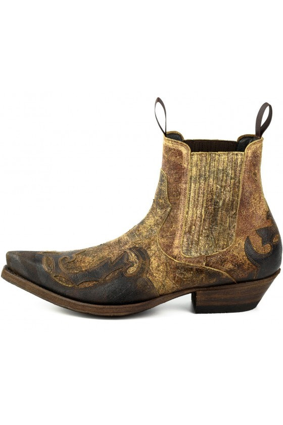 LEATHER ANKLE BOOTS THOR (brown)