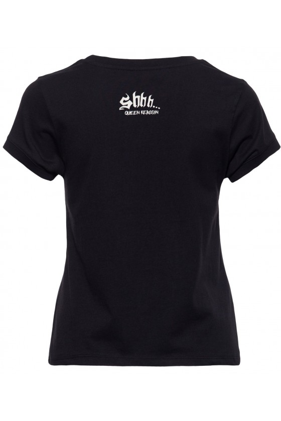 WOMEN'S T-SHIRT HEAR, SEE, SHHH (black)