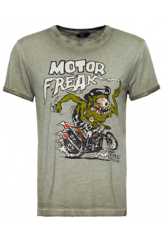 MEN'S T-SHIRT MOTOR FREAK (olive)