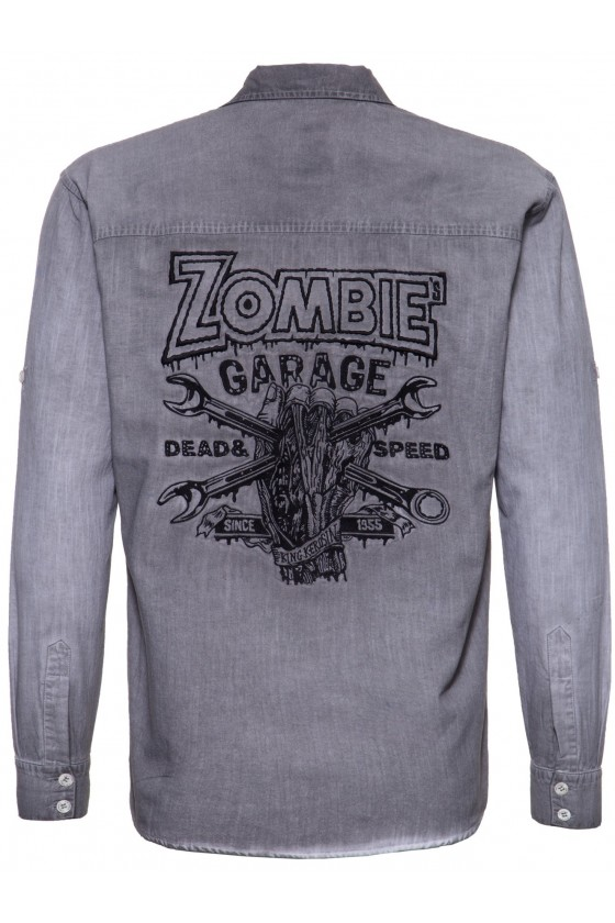 AUTHENTIC SHIRT ZOMBIE GARAGE (steel grey)