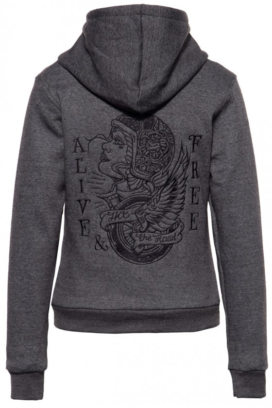 FUNCTIONAL SWEAT JACKET RACING SKULL (grey)