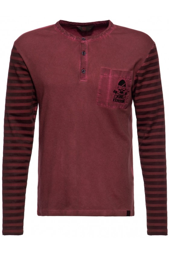 LONGSLEEVE SHIRT TOUGH AS NAILS (dark red)