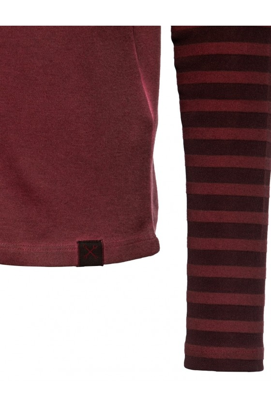 LONGSLEEVE SHIRT REBEL CLUB (dark red)