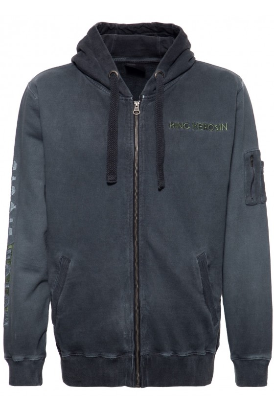 SWEAT JACKET MOTOR LIQUID (dark blue)