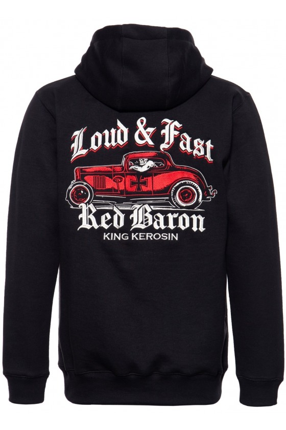 HOODED SWEAT JACKET RED BARON (black)
