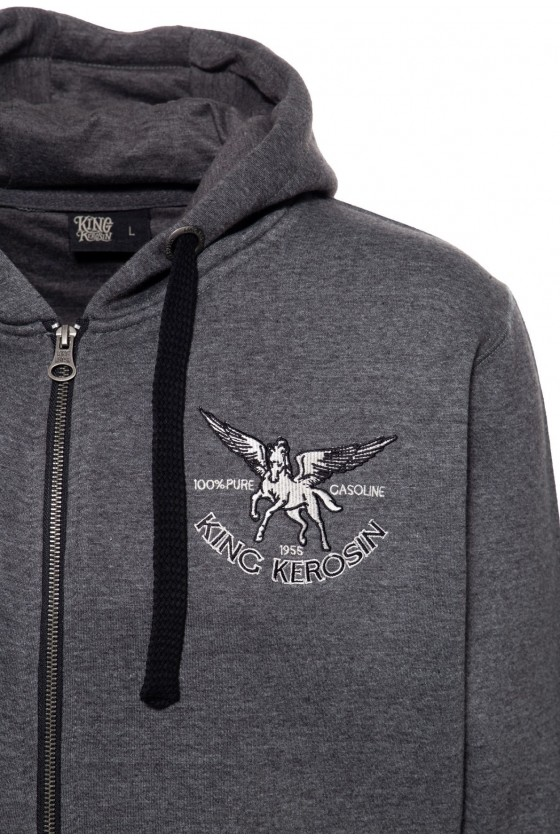 HOODED SWEAT JACKET PEGASUS (grey)