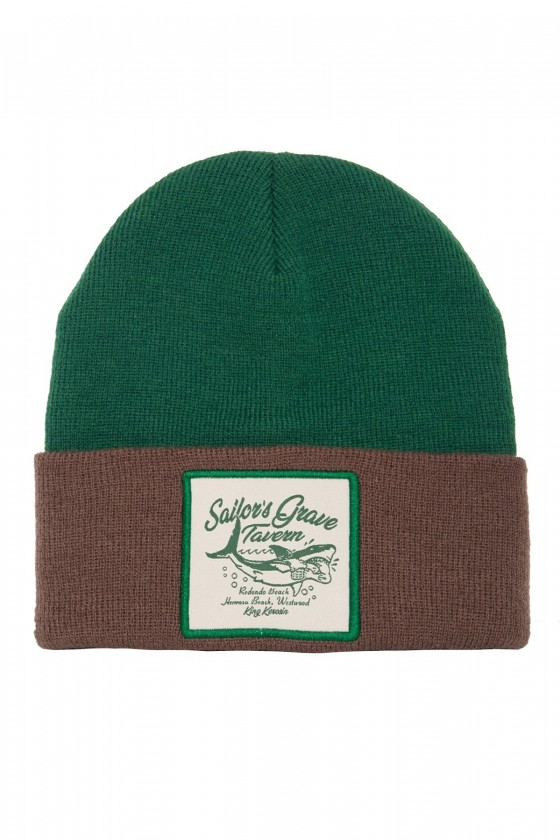 KNITTED BEANIE SAILOR'S GRAVE TAVERN (green)