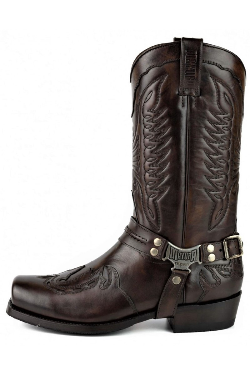 LEATHER BOOTS INDIAN (chestnut)