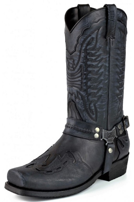 LEATHER BOOTS INDIAN (vintage black)