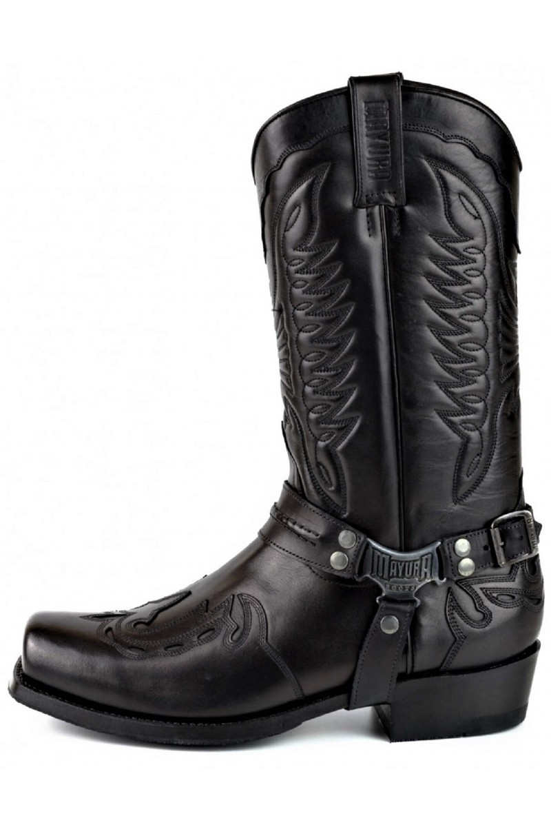 LEATHER BOOTS INDIAN (black)