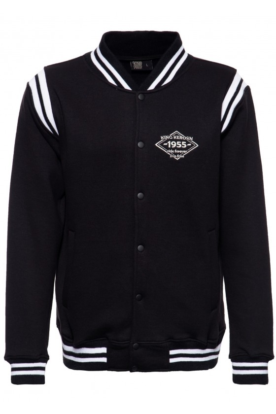 COLLEGE SWEAT JACKET BLACK PANTHER (black)