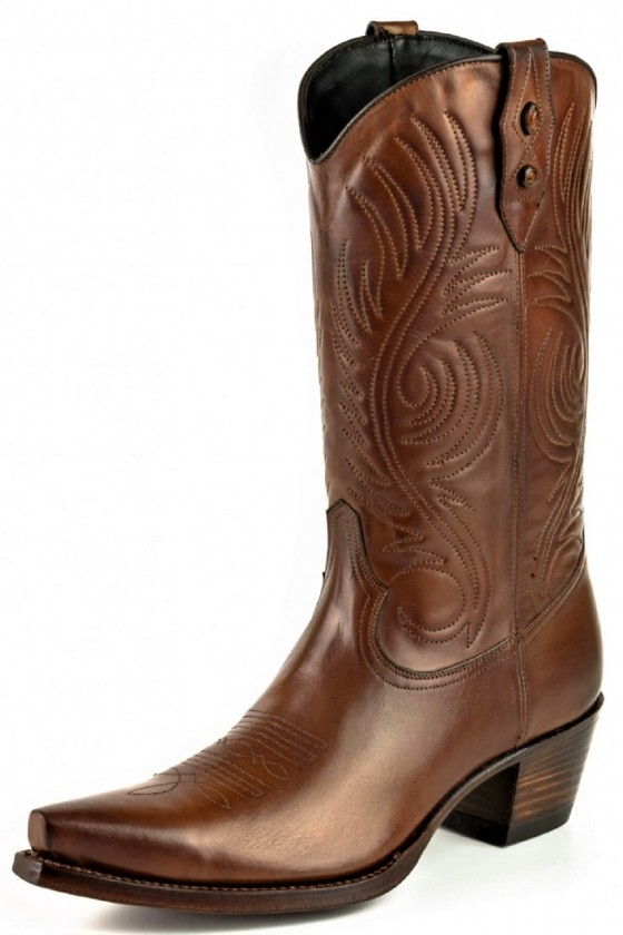 WOMEN'S LEATHER BOOTS VIRGI (chestnut)