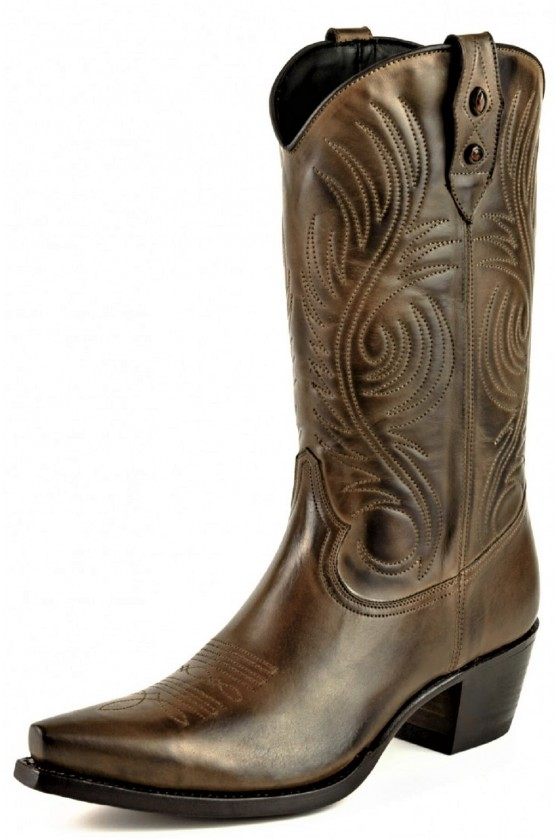 WOMEN'S LEATHER BOOTS VIRGI (brown)