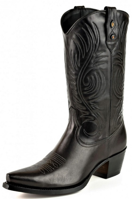 WOMEN'S LEATHER BOOTS VIRGI (black)