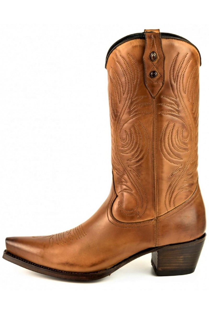 WOMEN'S LEATHER BOOTS VIRGI (toasted)