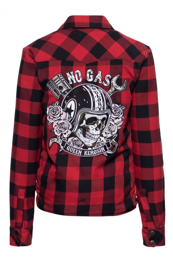 WOMEN'S SHIRT-JACKET NO GAS NO GLORY (red)