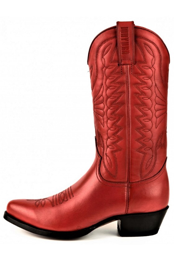 WOMEN'S LEATHER BOOTS ARPIA 2534 (red)