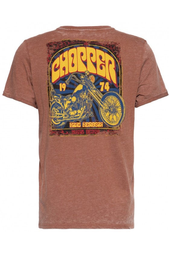 PRINT SHIRT CHOPPER 1974 (rust brown)