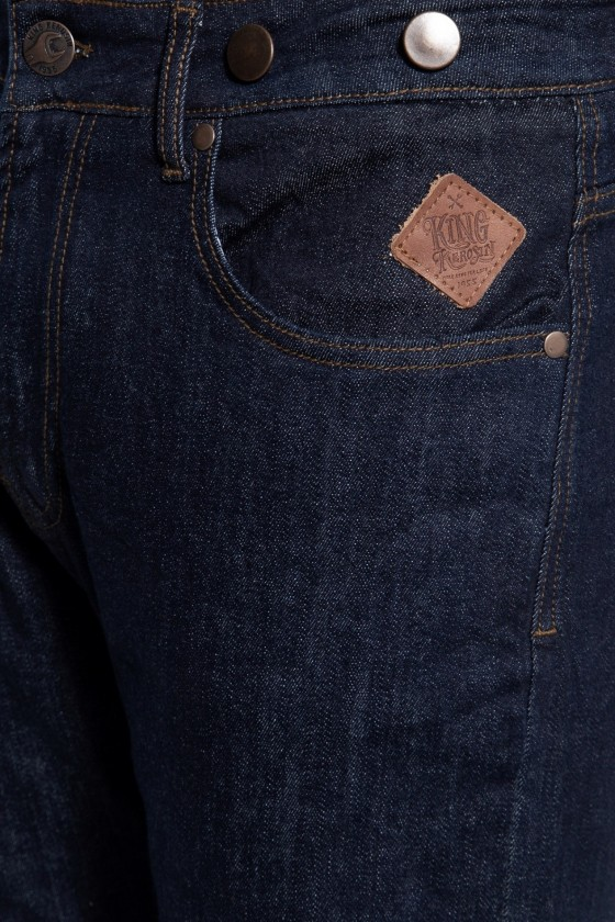 VINTAGE JEANS WITH CINCH & BUTTONS ROBIN SELVEDGE (denim)