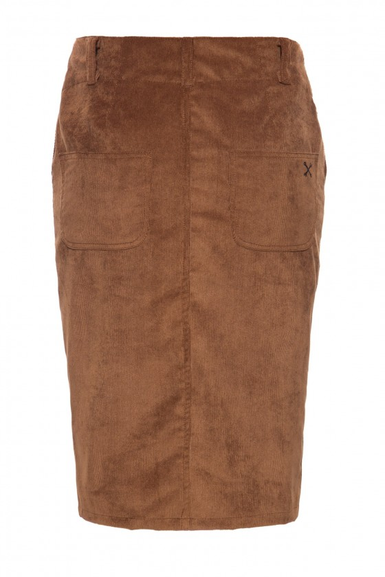 SEXY CORDUROY SKIRT (brown)