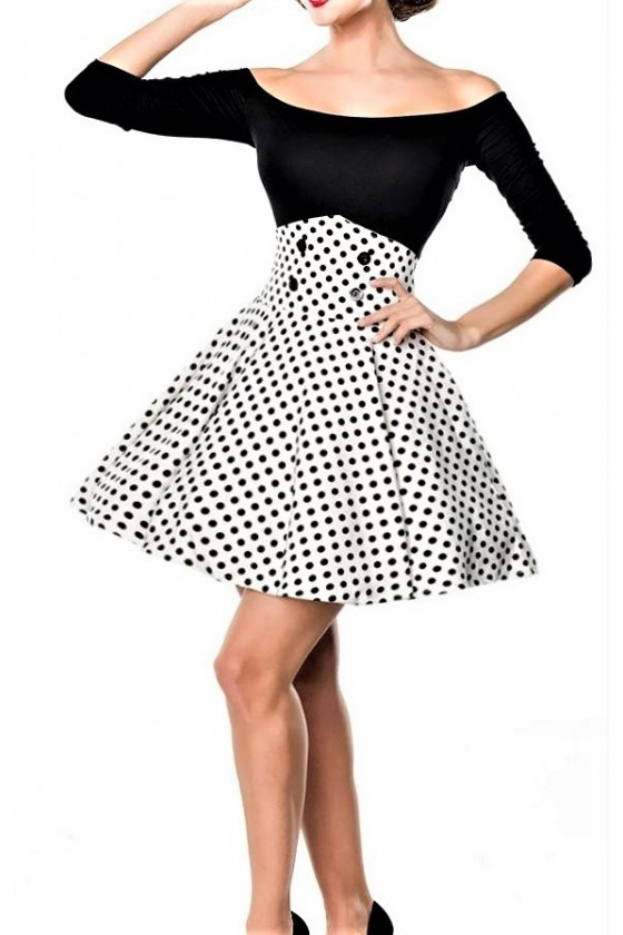 SHORT SWING SKIRT (white/black)
