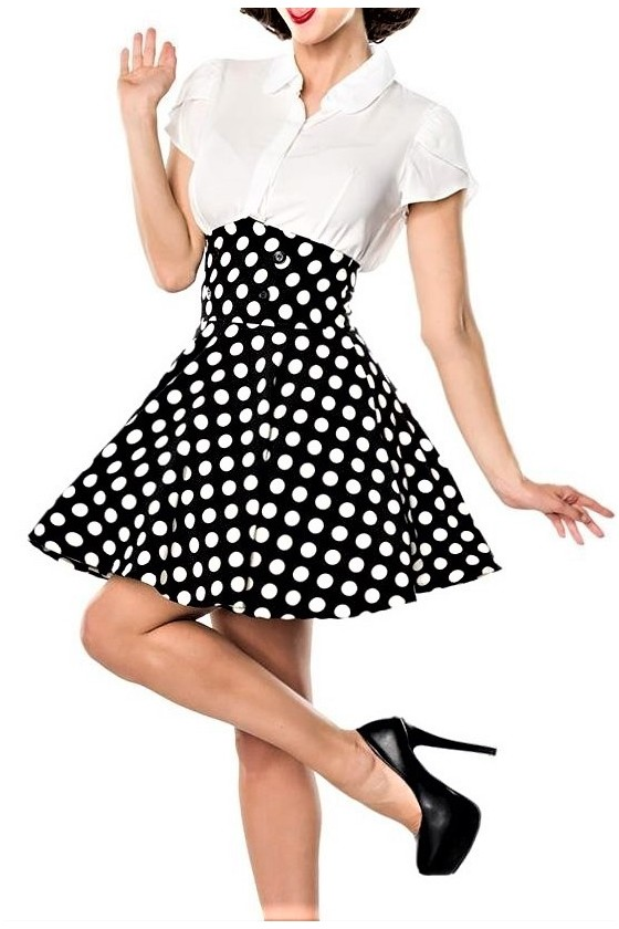 SHORT SWING SKIRT (black/white)