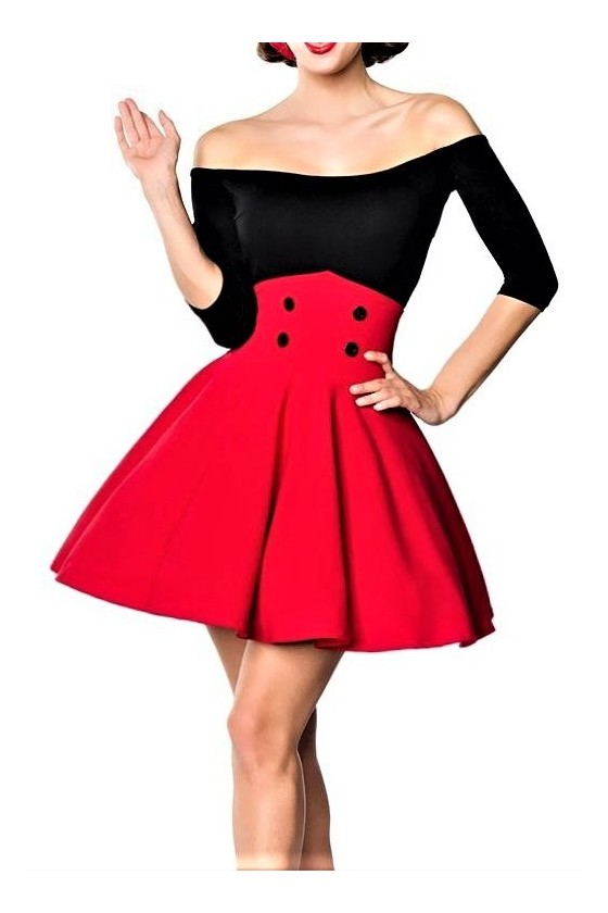 SHORT SWING SKIRT (red)