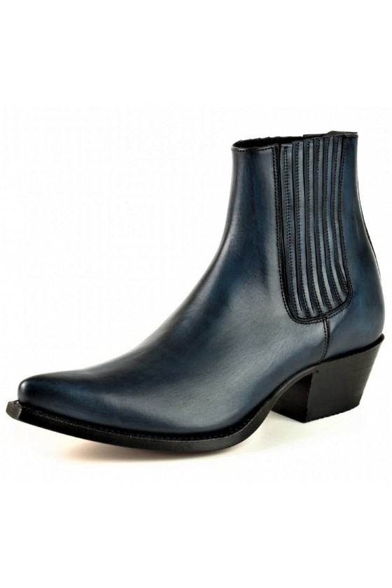 WOMEN'S ANKLE BOOTS MARIE NAPPA (blue)