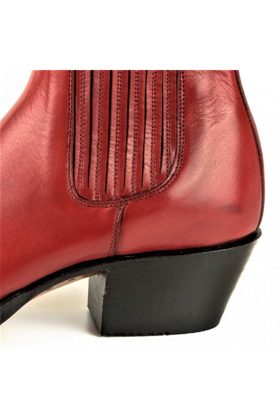WOMEN'S ANKLE BOOTS MARIE NAPPA (red)